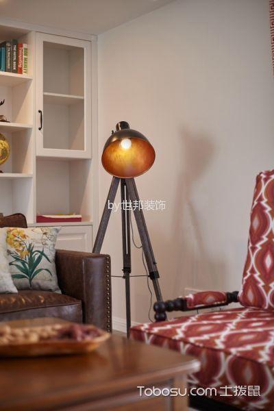 客厅灰色细节美式风格效果图
