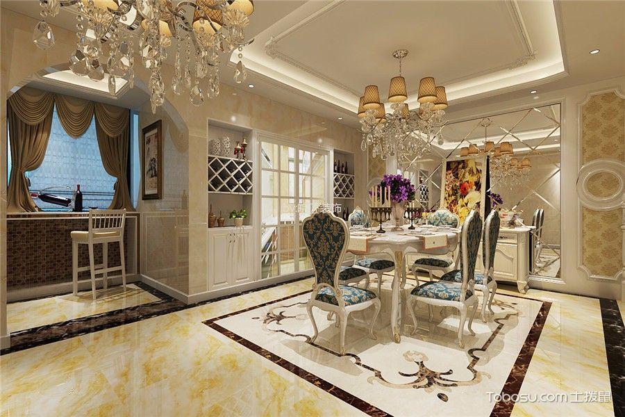 厨房白色背景墙简欧风格效果图
