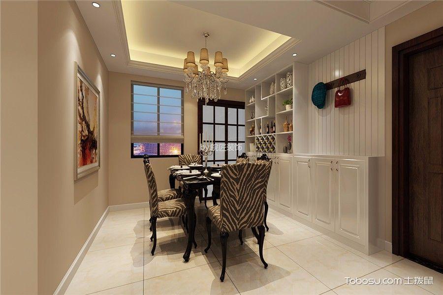 餐厅白色窗帘欧式风格装饰设计图片