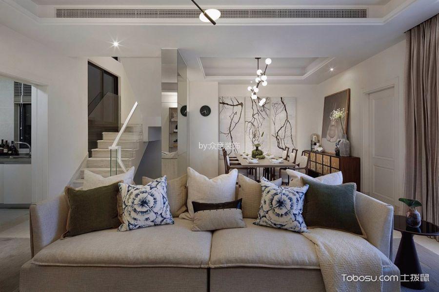 客厅白色楼梯北欧风格装潢图片