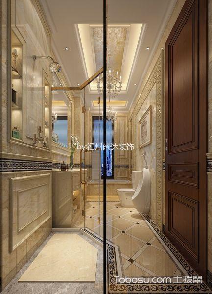 卫生间米色吊顶混搭风格装潢设计图片