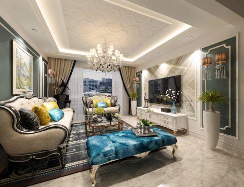 7万预算115平米两室两厅装修效果图