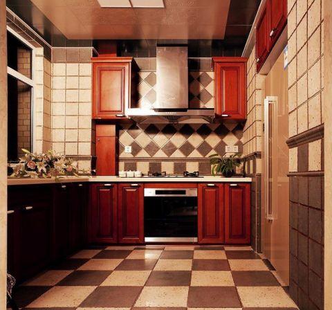 歐式廚房背景墻設計圖欣賞