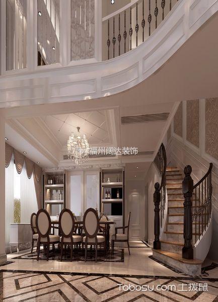 餐厅米色窗帘欧式风格装饰设计图片