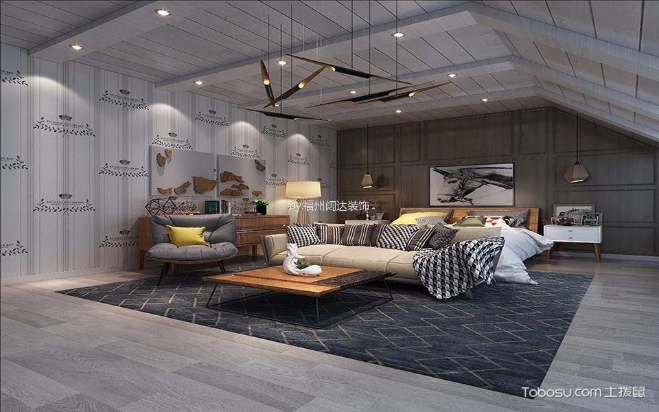 卧室白色吊顶现代简约风格装潢图片