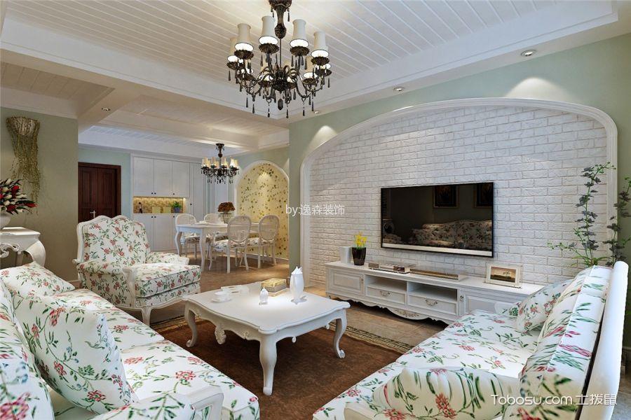 客厅 背景墙_9万预算90平米两室两厅装修效果图