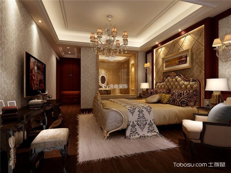卧室咖啡色梳妆台欧式风格装饰设计图片