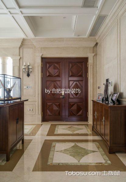 玄关白色门厅混搭风格装潢设计图片