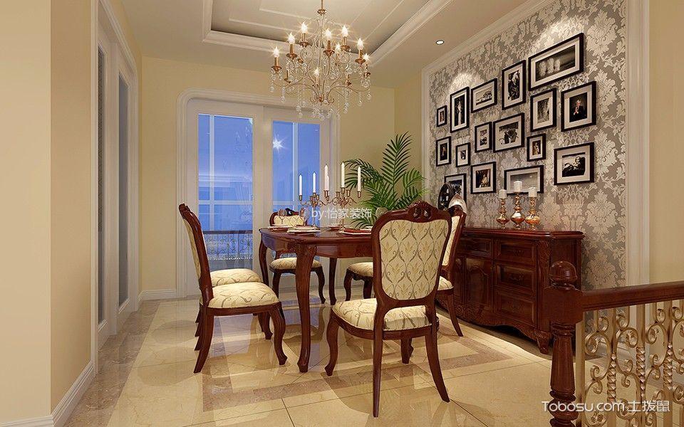 餐厅 照片墙_18.3万预算210平米别墅装修效果图
