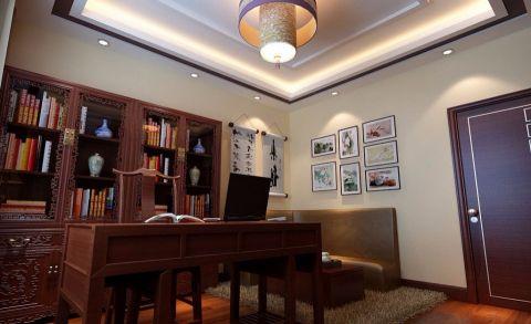 书房照片墙中式风格装潢图片