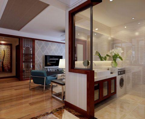 客厅隔断现代简约风格装饰设计图片