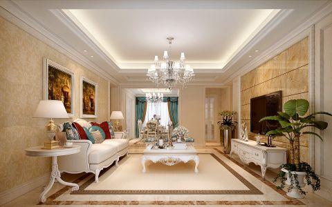 13.6万预算120平米三室两厅装修效果图