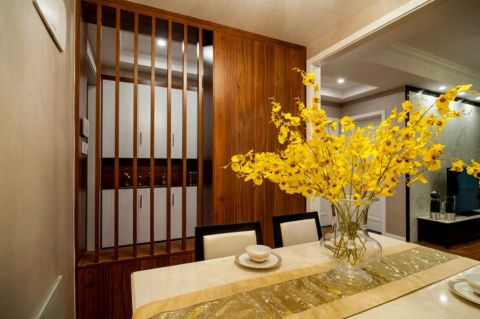 餐厅背景墙现代简约风格装修效果图