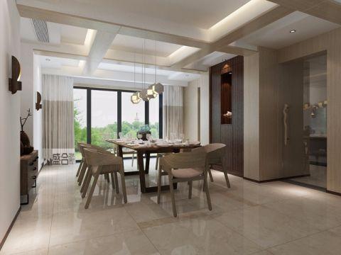 餐厅窗帘现代风格装潢效果图