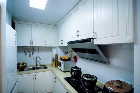 厨房背景墙现代简约风格装潢图片
