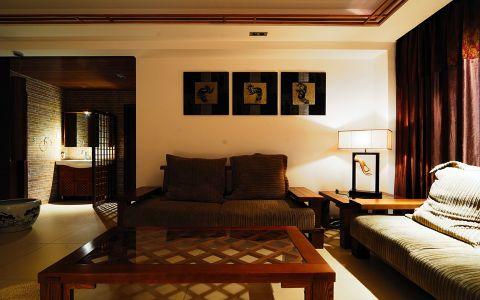 客厅沙发简中风格装潢设计图片