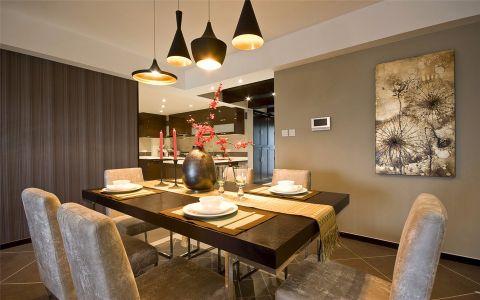 餐厅黑色吊顶混搭风格装潢设计图片