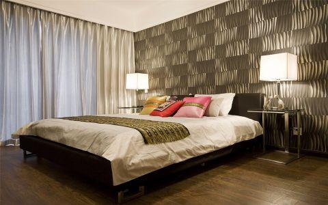 卧室黑色背景墙混搭风格效果图