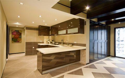 厨房米色背景墙混搭风格装修效果图