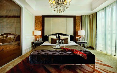 卧室白色背景墙新古典风格装修图片