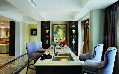 客厅白色吧台新古典风格装饰图片