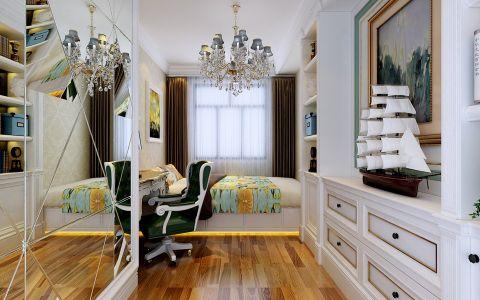 卧室白色吊顶简欧风格装潢效果图