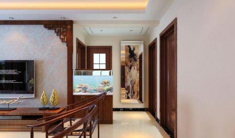 黄色照片墙新中式风格装潢设计图片