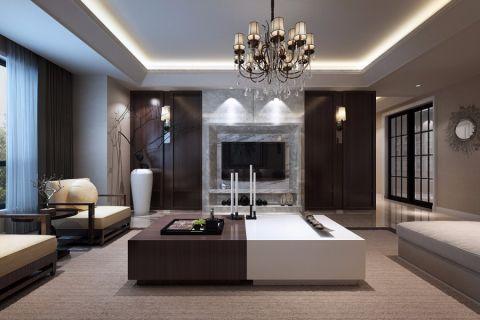 4万预算120平米三室两厅装修效果图