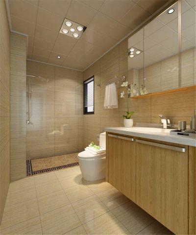 卫生间背景墙中式风格装饰设计图片