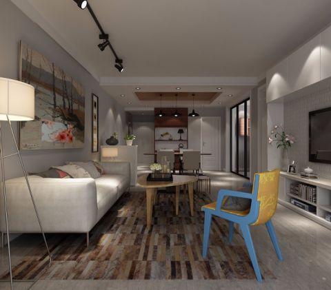 9.6万预算100平米三室两厅装修效果图
