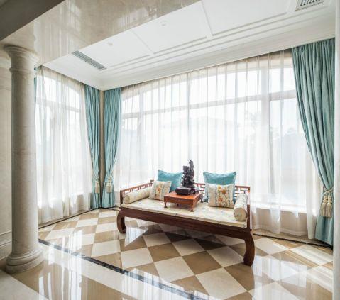 阳台窗帘混搭风格装修设计图片