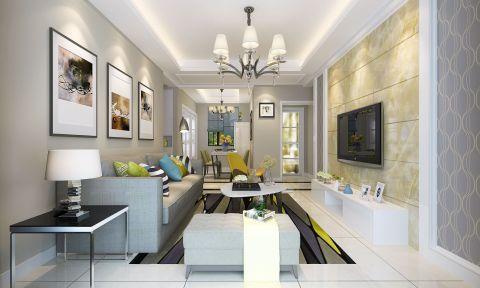 7万预算90平米两室两厅装修效果图