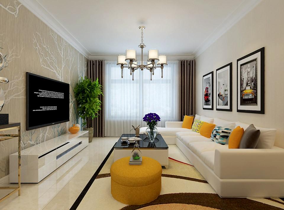 2室1卫1厅83平米现代简约风格