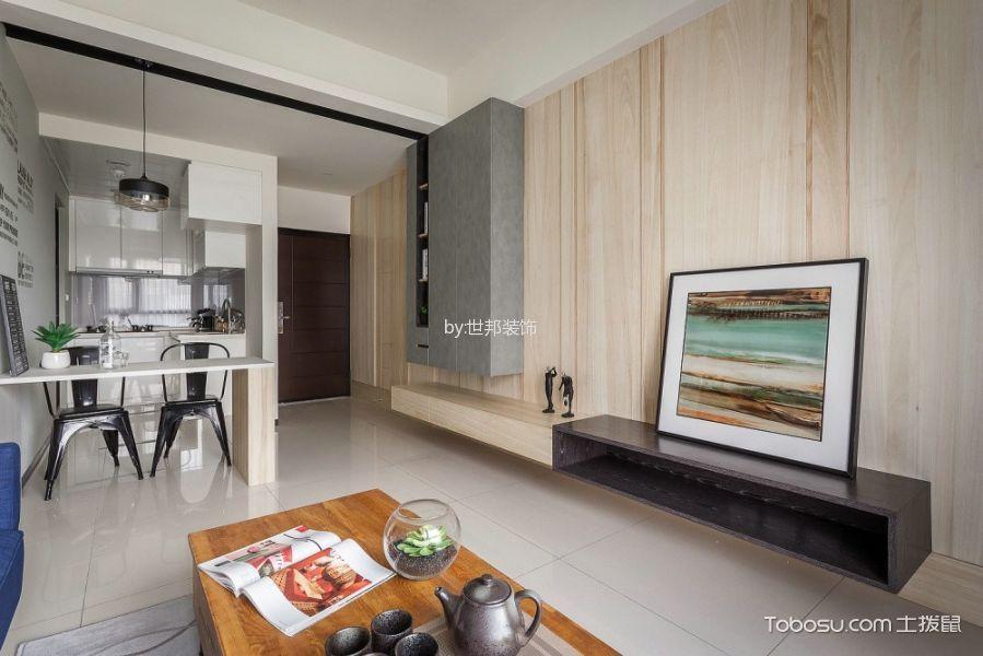 客厅米色背景墙混搭风格装潢效果图