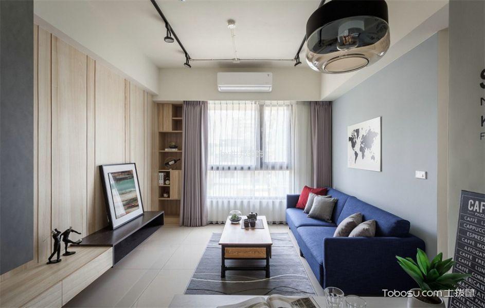 客厅白色吊顶混搭风格装饰图片