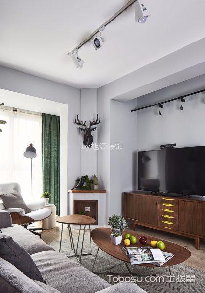 客厅 吊顶_15万预算120平米三室两厅装修效果图
