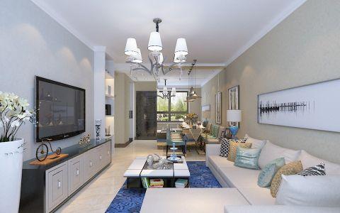 3.7万预算83平米两室两厅装修效果图