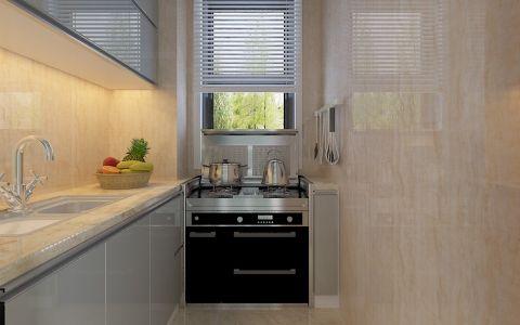 厨房窗帘现代简约风格装修设计图片