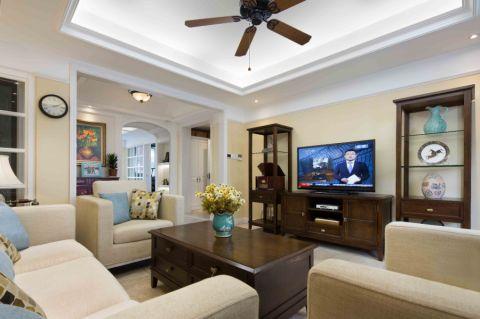 14.1万预算120平米三室两厅装修效果图