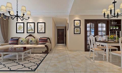 客厅走廊田园风格效果图