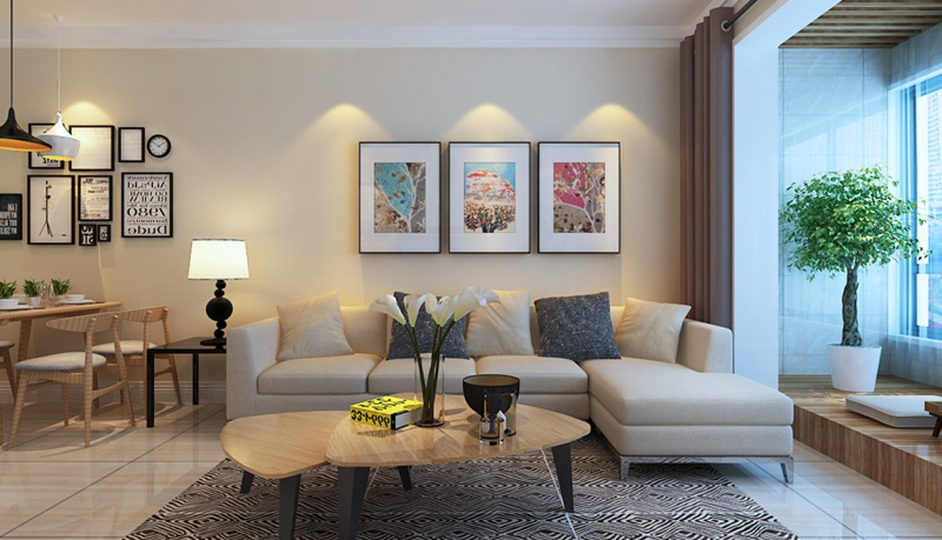 2室1卫1厅99平米现代简约风格