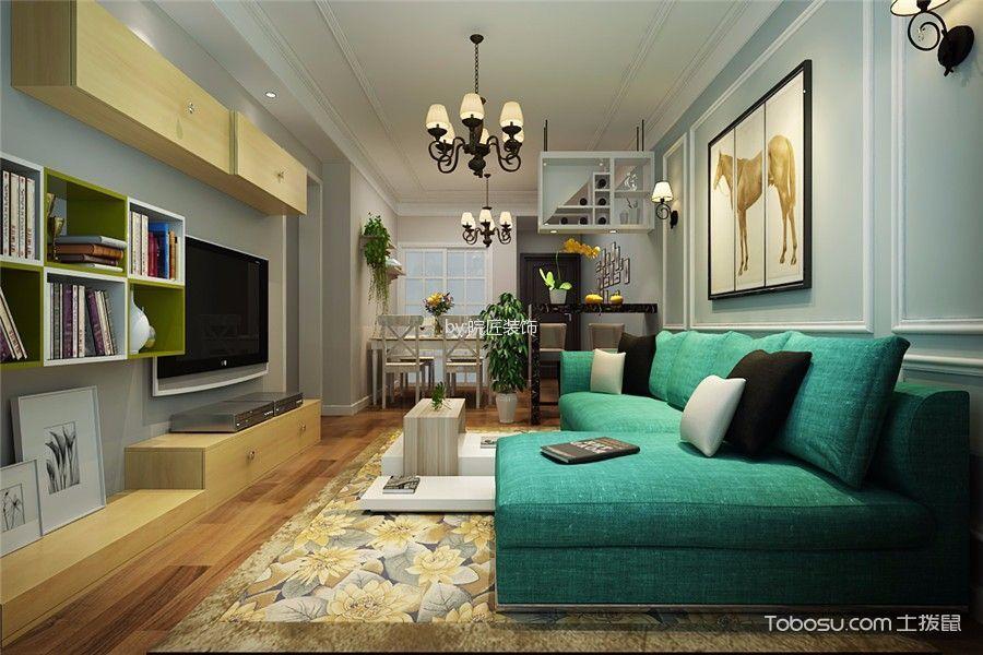客厅 沙发_9万预算120平米三室两厅装修效果图
