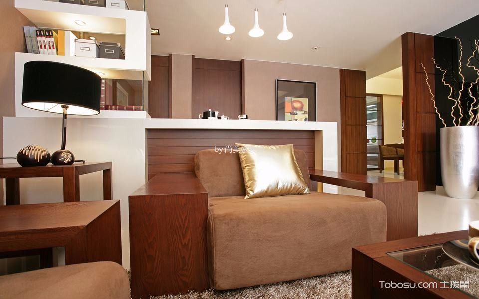 客厅咖啡色细节现代风格效果图