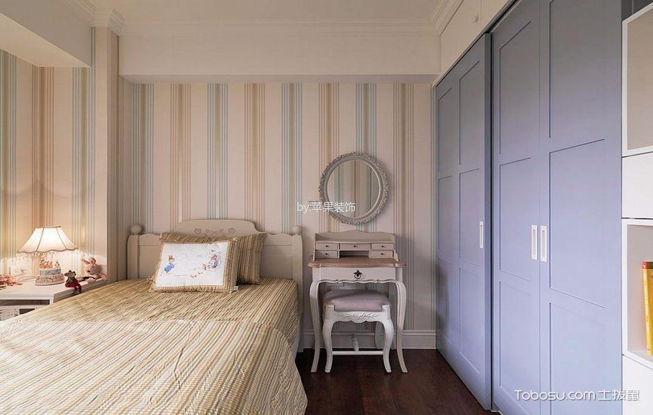 卧室白色梳妆台田园风格装修图片