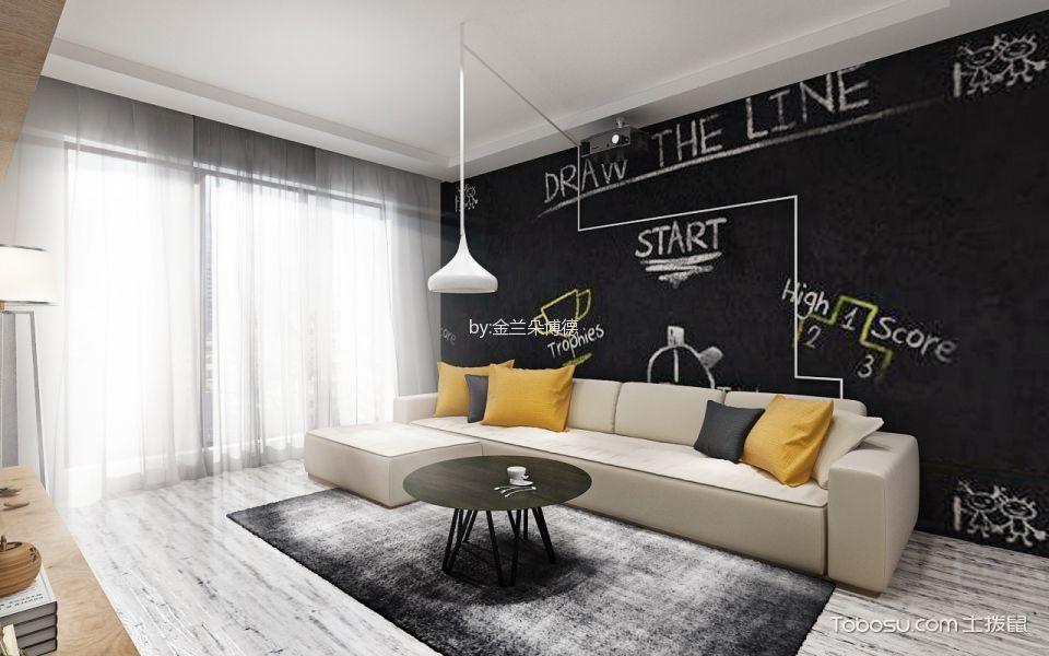 10万预算115平米两室两厅装修效果图