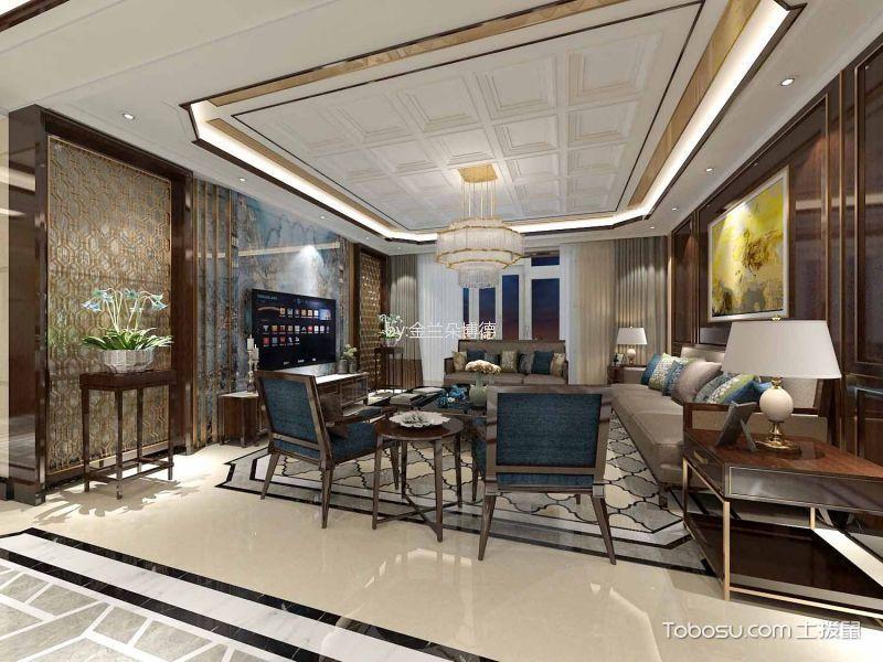 15万预算180平米三室两厅装修效果图