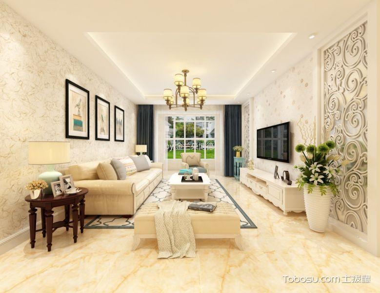 7万预算114平米两室两厅装修效果图