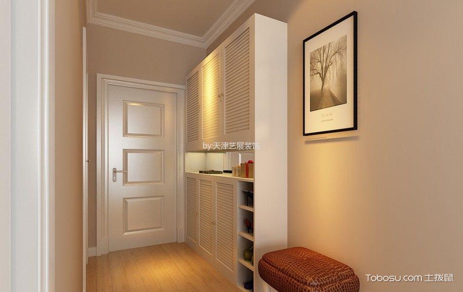 玄关黄色背景墙简约风格装饰设计图片