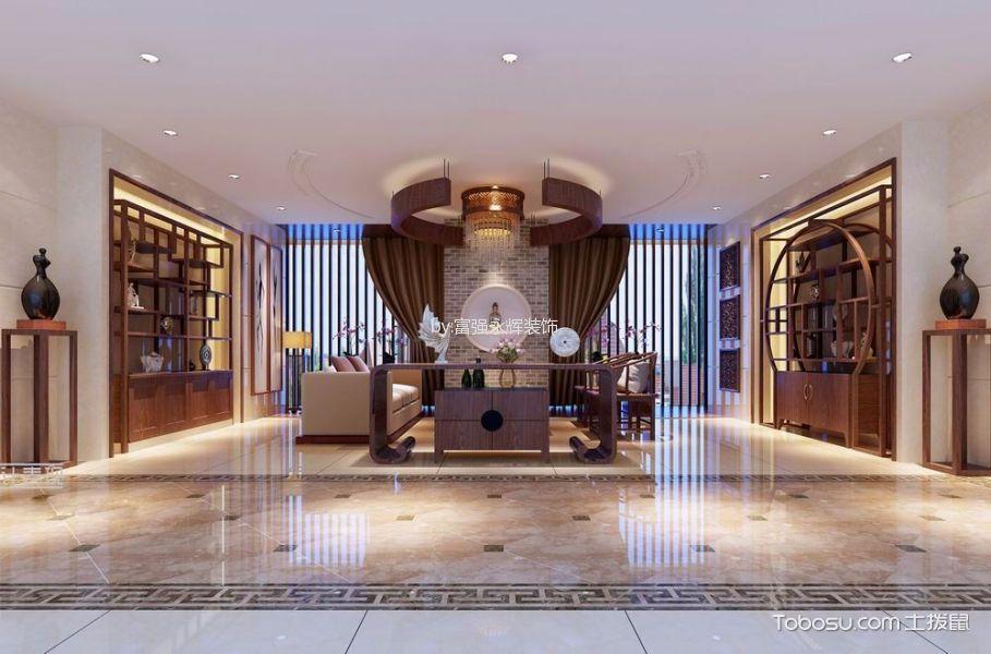玄关白色门厅新中式风格装饰图片
