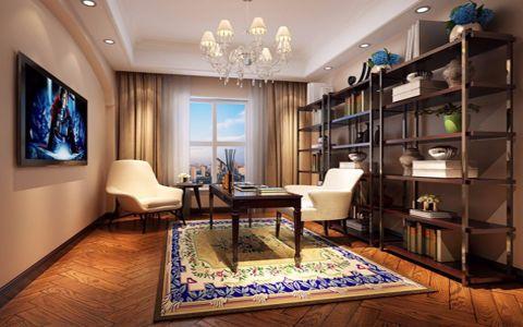 书房窗帘简欧风格装修设计图片
